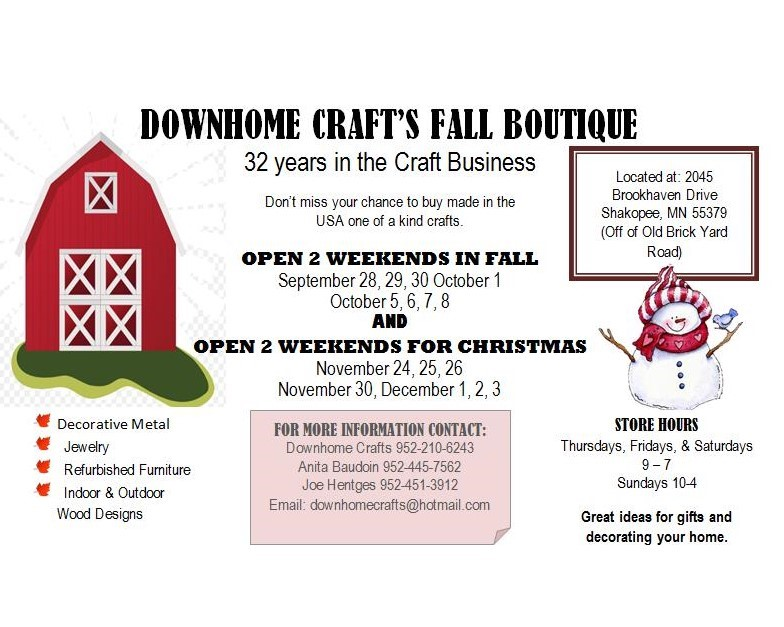 Downhome Crafts Fall Boutique