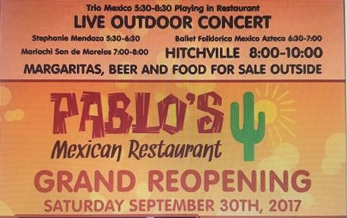 Pablo's Grand Reopening Celebration