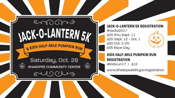 Jack-o-Lantern 5K and Kids Pumpkin Run