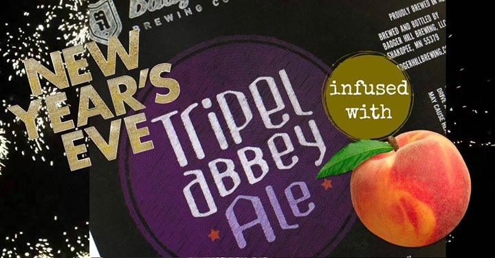 Badger Hill NYE – Tripel Abbey Ale infused with Peach!