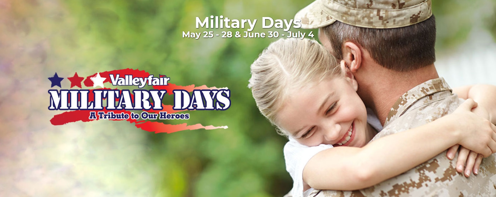 Valleyfair Military Days – May
