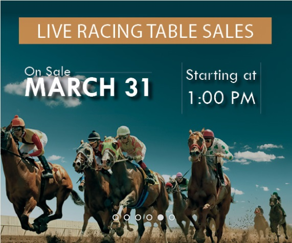 Live Racing Table Sales