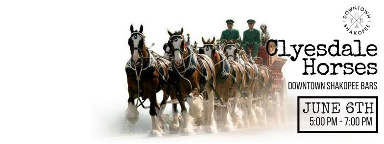 Clydesdale Horses Coming to Downtown Shakopee