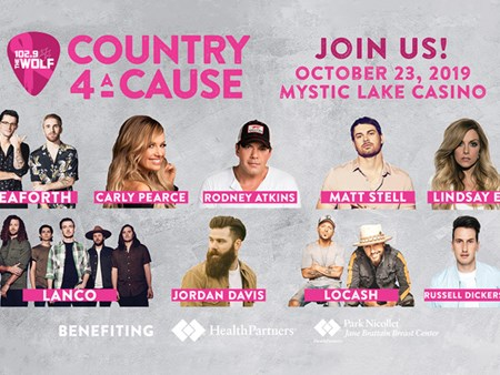 102.9 The Wolf Presents Country 4 A Cause