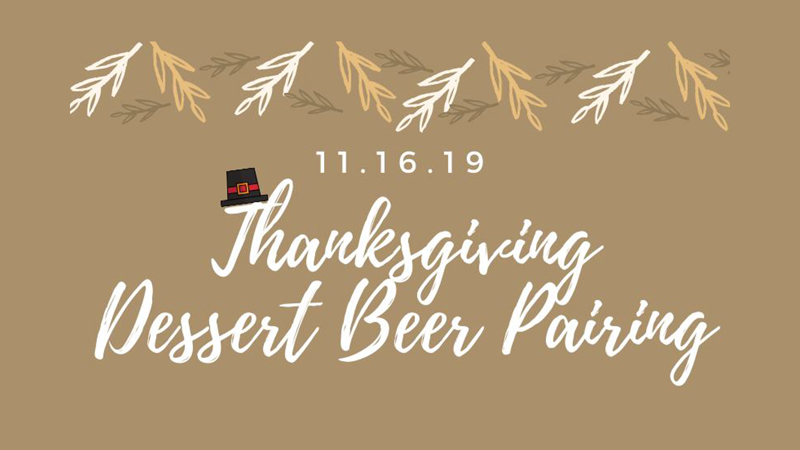 Thanksgiving Dessert Beer Pairing