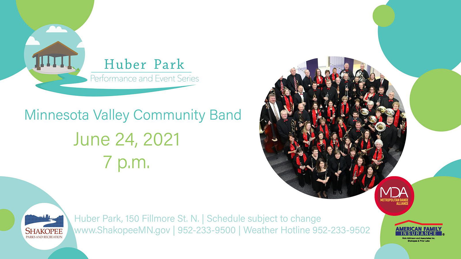 Minnesota Valley Community Band: Huber Park and Event Series
